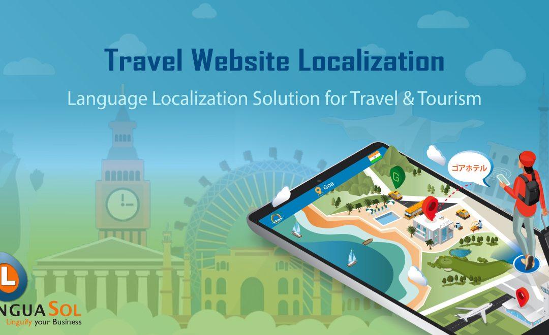 Travel website portal language translation and localization