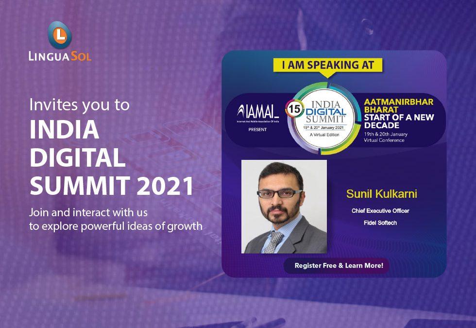 India Digital Summit 2021, LinguaSol