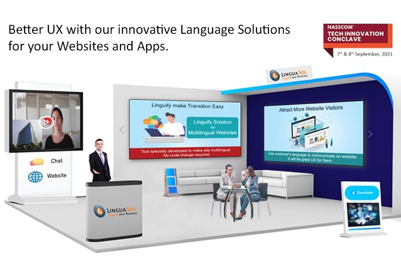 LinguaSol Booth at NASSCOM